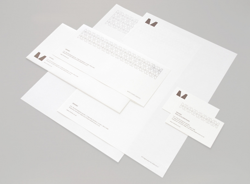 Minimo letterheads, compliment slips and business cards