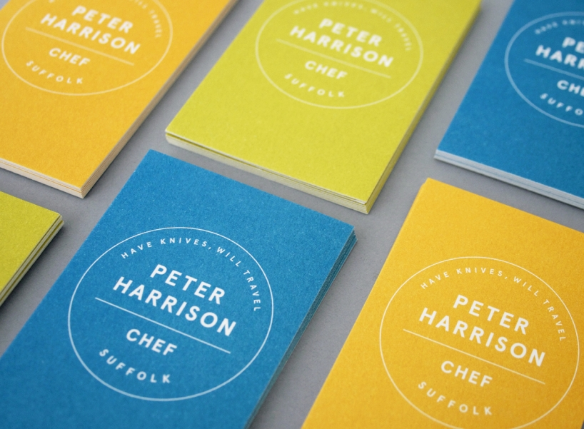 Peter Harrison, Chef - business cards