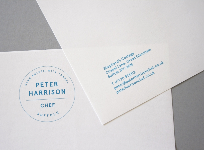 Peter Harrison, Chef - letterhead