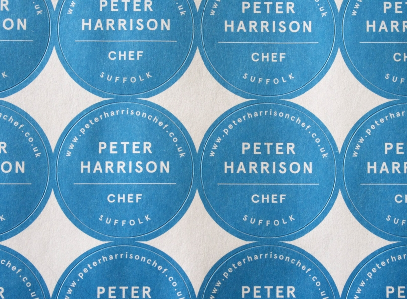 Peter Harrison, Chef - labels